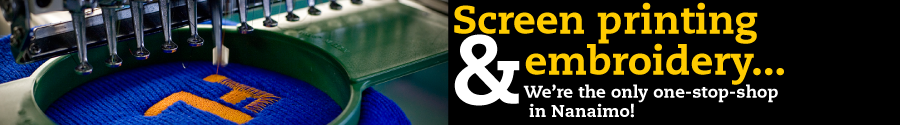 Senini Graphics offers screen printing and embroidery under one roof in Nanaimo